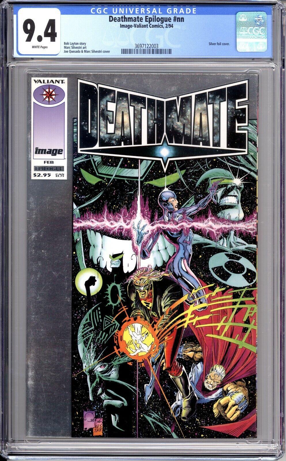 Image Valiant Deathmate Epilogue 1994 Graded 9.4 CGC CBCS Silvestri Layton  - $29.99