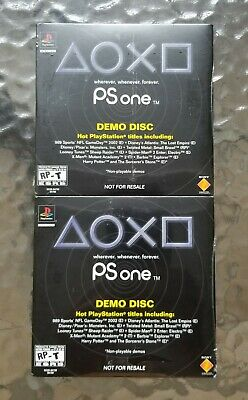 Lot Of 2 PS One Demo Discs for PlayStation 1 / PS1 - Both Are New / Sealed
