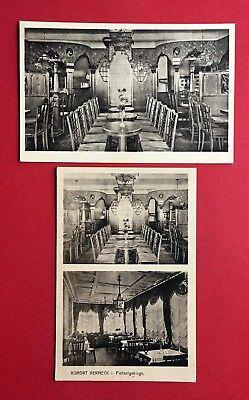 2 x AK BERNECK im Fichtelgebirge um 1930 Hertrichs Konditorei Kaffee    ( 43257 ()
