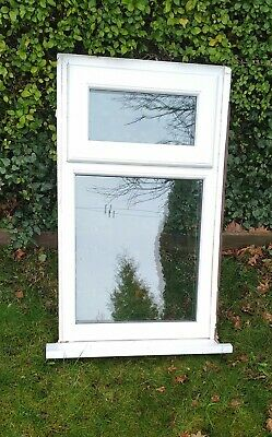 White UPVC Double Glazed WINDOW Clear Glass Top Opener 1030mm x 610mm