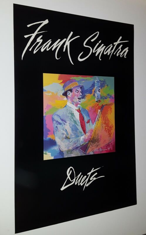 """FRANK SINATRA """" DUETS """" PROMOTIONAL ONLY 2 SIDED  POSTER LEROY NEIMAN ARTWORK 94"""
