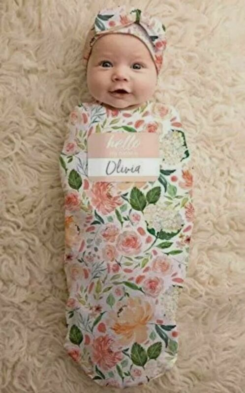 Itzy Ritzy Cocoon and Hat Set Swaddle Cutie Cocoon Includes Name Announcement...