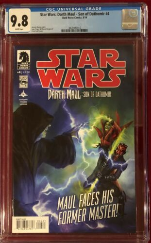 Star Wars Darth Maul Son of Dathomir #4 CGC 9.8 NMMT August 2014