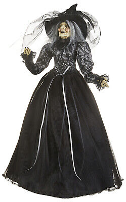 Raz Imports Halloween Decorations (RAZ Imports Halloween Witch with Posable Arms, Lace Top and Cinched Belt 24)