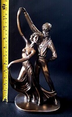 Large 31cms Strictly Ballroom Dancing Bronze Statue Figurine Sculpture REPAIRED