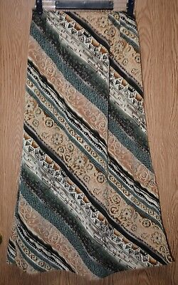 - Womens Pretty Brown Floral Striped Maren Flat Front Skirt Size Small excellent