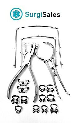 Rubber Dam Starter Kit Of 13 Pcs With Frame Punch Clamps Dental Dn-2138 German