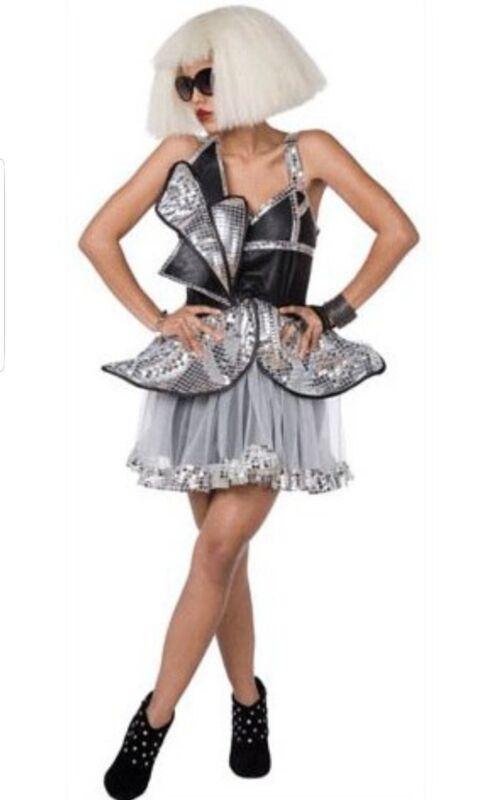 NEW Futuristic Lady Diva Lady Gaga Halloween Costume Womens Large 12-14