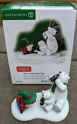 Dept 56 North Pole Series Coca Cola Taste Test EUC #56.56841from 2002