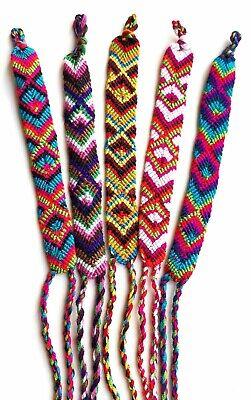 Woven Cotton Friendship Bracelets Wholesale Lot of 5, Patterned String Bands ](Friendship Bracelet Pattern)