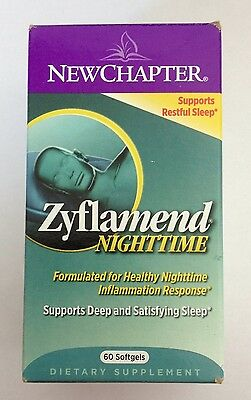NewChapter Zyflamend Nighttime Dietary Supplement - 60 Softgels, used for sale  Shipping to South Africa