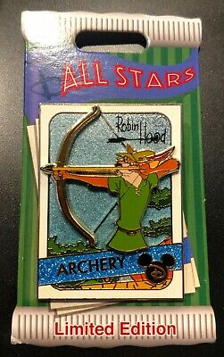 Robin Hood All Stars Archery Disney Parks Pin Limited Edition 4000 NEW on CARD