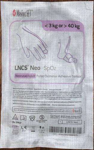 Masimo LNCS Neo adult/neonatal SpO2 sensors (20 sensors) Exp. 2023