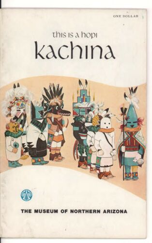 This Is A Hopi Kachina Softbound Book w/ Photos by Wright & Roat ,1973