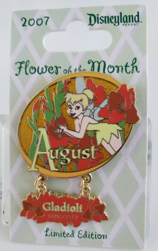 DLR-TINKER BELL FLOWER COLLECTION 2007- AUGUST - GLADIOLI SINCERITY LE 1000 PIN