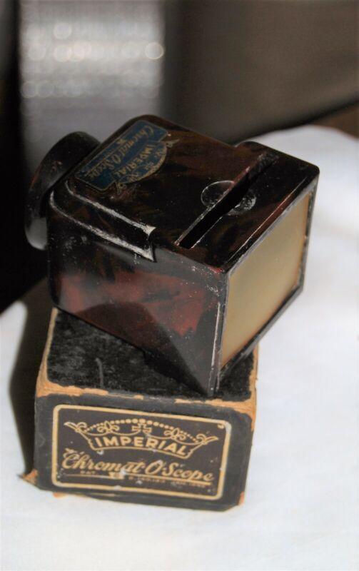 Vintage Imperial Chromat-O-Scope Slide Viewer in original box