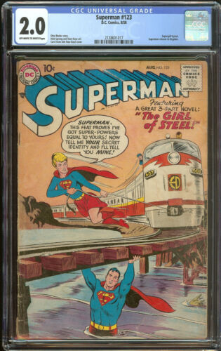 Superman 123 CGC 2.0   Pre Supergirl Tryout cover & story