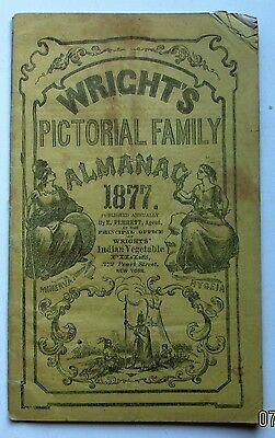WRIGHT'S PICTORIAL FAMILY ALMANAC 1877
