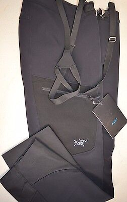 Arcteryx Womens Psiphon Sv Water Resistant Pant  Black  Size 10   Regular