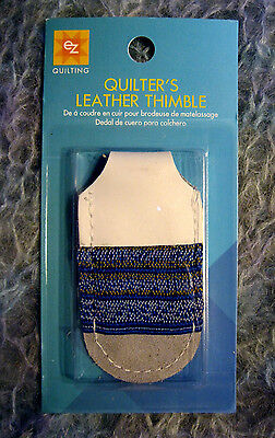 EZ'S QUILTER'S LEATHER THIMBLE - PERFECT FOR SEWING  CROSS STITCH  QUILTING ETC