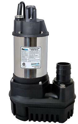 Danner ProLine High-Flow Submersible Water Pump 1/6 HP 1600 GPH Solids Handling Danner Water Pump