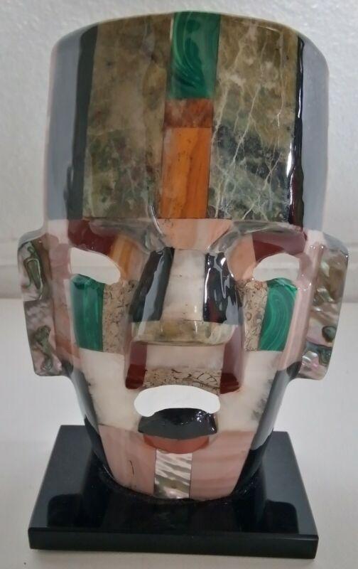 Beautiful Vintage Desk Top Face Mask/ Statue Ceramic/Stone, Multi Color