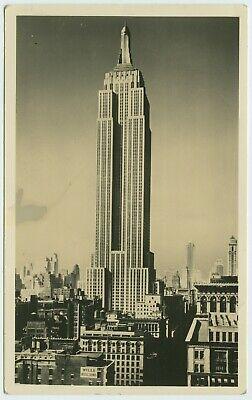 VINTAGE EMPIRE STATE BUILDING REAL PHOTO POSTCARD CIRCA 1948