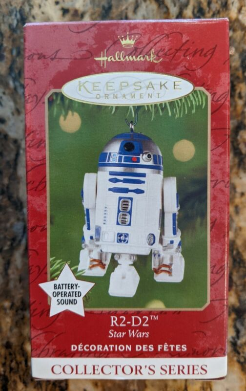 Hallmark Star Wars Ornament - R2-D2 with battery operated sound (2001)New in Box