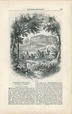 1853 Napolean Bonaparte History Article In Council French France Politics