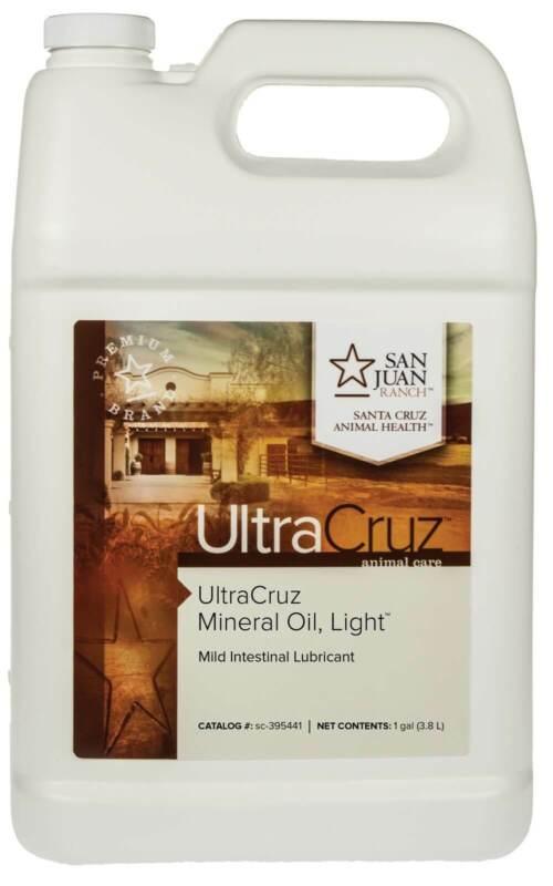 UltraCruz Mineral Oil Light Supplement for Horses, Livestock and Dogs, 1 Gallon