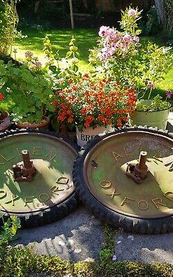 Vintage Industrial Pair Of Allen Oxford Scythe Wheels. Decoration or restoration