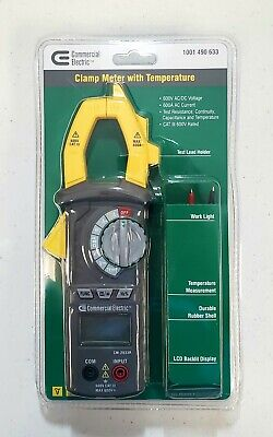 New Commercial Electric Clamp Meter With Temperature 600v Acdc Voltage