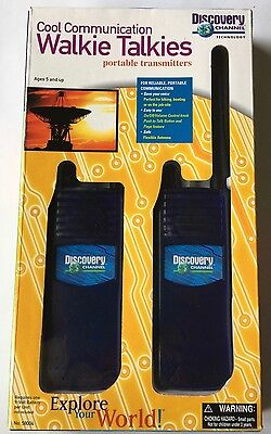 Discovery Channel Kid Walkie Talkies Portable Transmitter Cool Communication New