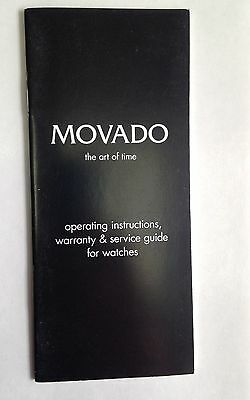 NEW MOVADO WATCH BOOKLET OPERATING INSTRUCTIONS WARRANTY AND SERVICE GUIDE
