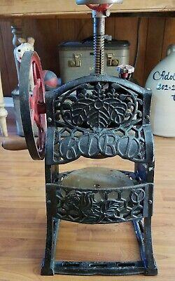 Vintage Cast Iron Hand Crank Ice Block Shaver Shaving Snow Cone Machine Kiri