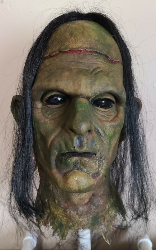 Rotted Corpse - Frankenstein Head - Severed Halloween Horror Prop - 091121-03