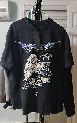 Represent FW 19/20 Hard II Kill Black Skeleton Grim Reaper Size M T Shirt