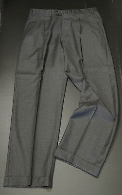 Ermenegildo Zegna  Incotex Dress Pants 34R Charcoal Gray Wool Pleated