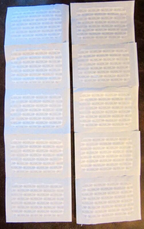"""NEW UNOPENED LOT OF 25 SILVERLON BURN ANTIMICROBIAL SILVER WOUND DRESSING 2""""X3"""""""