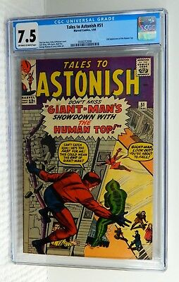 SILVER AGE TALES TO ASTONISH 51 CGC 7.5 GIANT MAN WASP 2ND HUMAN One Owner COMIC