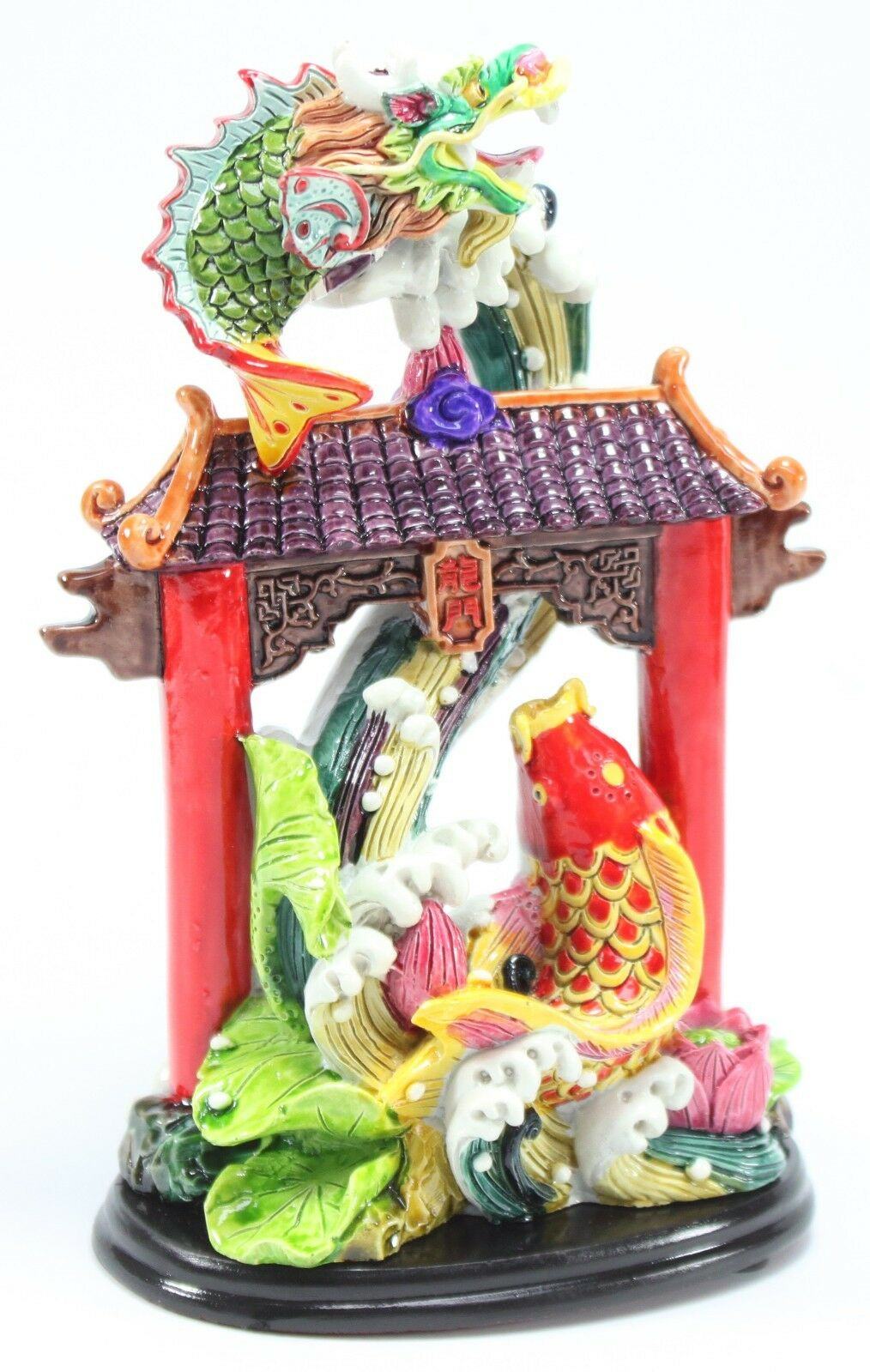 Feng shui rooster mandarin duck dragon gate waterfall for Duck decorations home