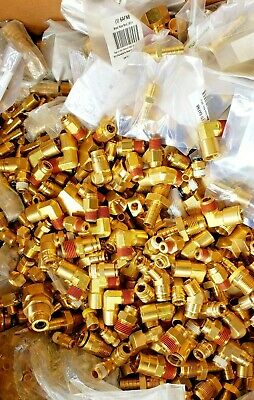 100 Brass Hydraulic Air Pneumatic Plumbing Fittings Lot Of 14 516 38 12