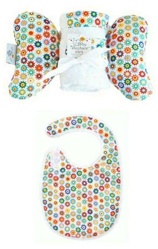 New Baby Elephant Ears Head Support SPROCKETS Pillow, Blanket, Tuck & Tidy Bib