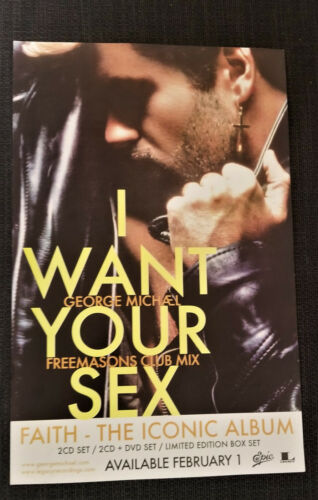 UPDATED George Michael official I Want Your Sex promo poster Lot of THREE