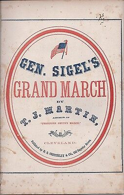 General Sigel's Grand March, Civil War Sheet Music, 1862
