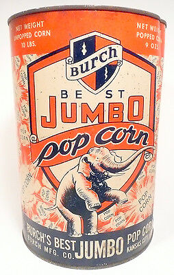 1950s Burch Popcorn Machine 10 Lb Empty Popcorn Can 7 - Export Pa Theatre