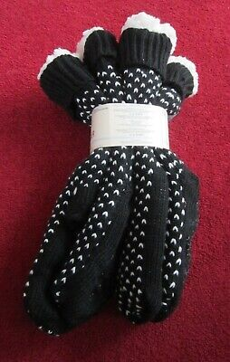 BRAND NEW JANE AND BLEECKER PLUSHFILL SLIPPER SOCKS SIZE U.K 2 - 8 BLACK