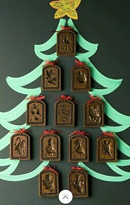 NEW HOUSE ON THE HILL Springerle Cookie Stamp Press Mold 12 DAYS OF CHRISTMAS  ()
