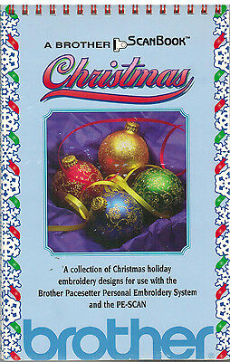 Brother Pacesetter Personal Embroidery System PE-SCAN Christmas Designs Book