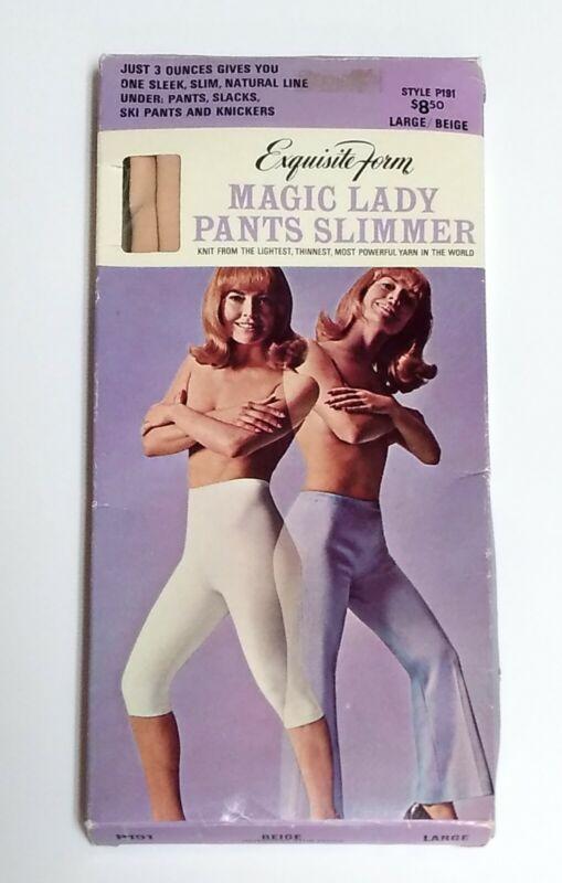 Vintage - Exquisite Form Magic Lady Pants Slimmer - Long Leg Panty Shaper LARGE